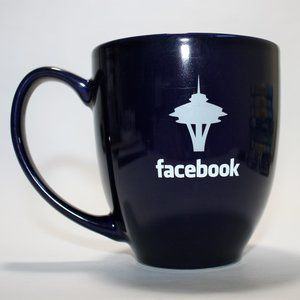 FACEBOOK Seattle Ceramic Coffee Mug In Cobalt Blue